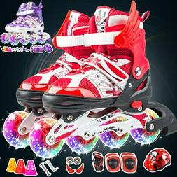 Children Inline Skate Roller Skating Shoes Adjustable Size F