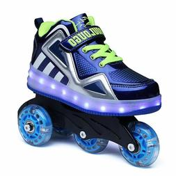 Children Roller Skates 2in1 Led Shoes Kids Glowing Sneakers