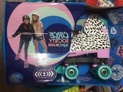 Circle Society Classic Adjustable Girls Roller Skates 12-3 W