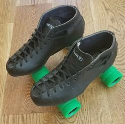 Riedell Cobal Spark Roller Skates 122 Men's Black Size 10 De