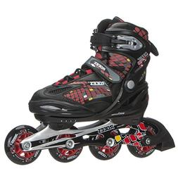 Roller Derby Cobra Boy's Adjustable Inline, Black, Medium