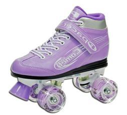 Pacer Comet Kids Roller Skates with Light Up Wheels  Quad Sk