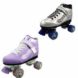 Pacer Comet Girls Light Up Purple Skates Size Juv 13