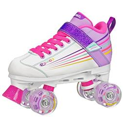 Pacer Comet Quad Kids Roller Skate, with Light Up Wheels, P9
