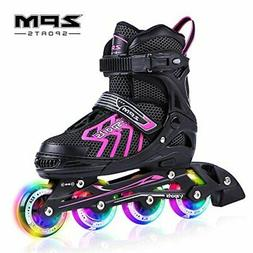 Comfortable Roller Skates for Girls - Inline Skates w/ Light