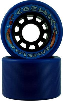 COSMIC INDOOR OUTDOOR BLUE ROLLER SKATE WHEELS 91A 62MM X 42