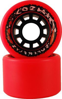 COSMIC INDOOR OUTDOOR ORANGE ROLLER SKATE WHEELS 91A 62MM X