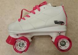 Crazy Skates Quad Roller Speed-Rocket Kids Pink/white Size 5