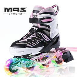 2PM SPORTS Cytia Pink Girls Adjustable Illuminating Inline S