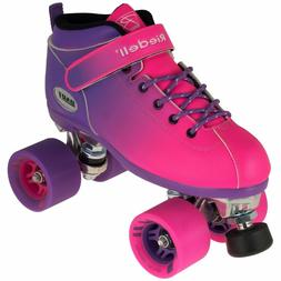 Riedell Dart 2 Tone Purple & Pink Ombre Quad Roller Speed Sk