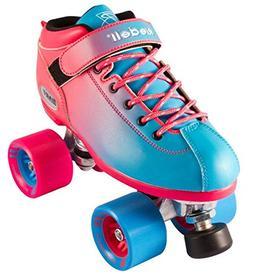 Riedell Dart Ombre Speed Roller Skates 2018-5.0/Blue Pink