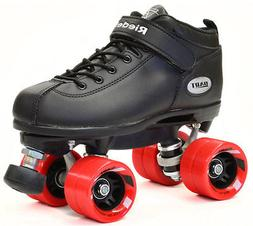 Riedell Dart Quad Roller Derby Speed Skates Black w/ Red Whe