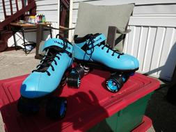 Riedell Dart Quad Roller Derby Speed Skates Light Blue With