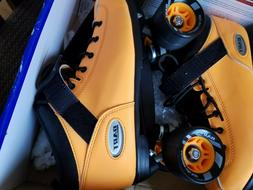 Riedell Dart Roller Skates Size 8 Bright Orange Matching Hub