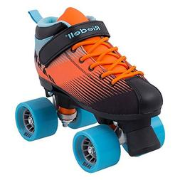 Riedell Dash Quad Indoor Roller Skate for Kids Aqua & Orange