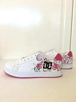 DC Girls Youth Pixie 3 Shoes Sneakers Skate Crazy Pink White
