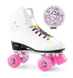 Crazy Skates Disco Roller Skates   LED Light Up Flashing Sta