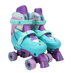 PlayWheels Disney Frozen Classic Quad Roller Skates, Size 1-