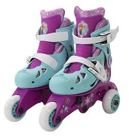 PlayWheels Disney Frozen Glitter Convertible 2-in-1 Skates,