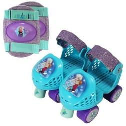 PlayWheels Disney Frozen Glitter Roller Skates with Knee Pad