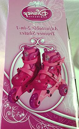 Disney Princess Adjustable 2-in-1 Trainer Skates, Sizes J6-J