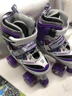 Kuxuan Doodle Design Roller Skates Adjustable for Kids,with