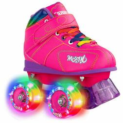 Dream Light-Up Roller Skates by Crazy Skates - Black with LE