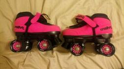 Epic Neon Pink Nitro Quad Speed Roller Skates size 3