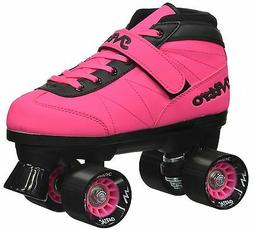 Epic Nitro Turbo Pink Quad Roller Speed Skates w/ 2 pr Laces