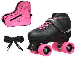 Epic Pink Super Nitro Quad Speed Roller Skate 3-piece Bundle
