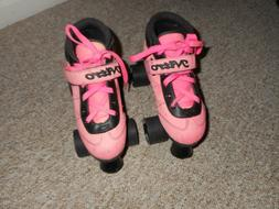 Epic Turbo Nitro Girl's Pink Quad Roller Skates Indoor - Out