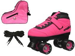 Epic Turbo Nitro Indoor Outdoor Pink Quad Roller Speed Skate