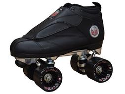 Epic Skates EvoBlk12 Evolution Quad Speed Skates, Black