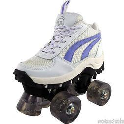 Ultra Wheels Flash 4x4 Girls Quad Roller Skates Youth Size 2