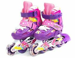 Titan Flower Princess Girls Inline Skates With LED Light-up