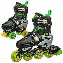 Flux Boys Inline/Roller Combo Skate Select, Black/Green