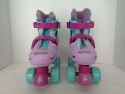 DISNEY FROZEN GIRLS QUAD ROLLER SKATES ADJUSTABLE JUNIOR YOU