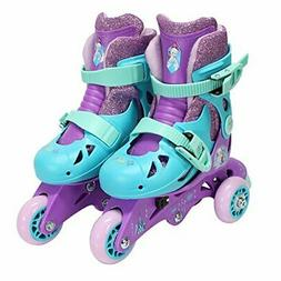 PlayWheels Frozen Glitter Convertible 2-in-1 Skates, Junior