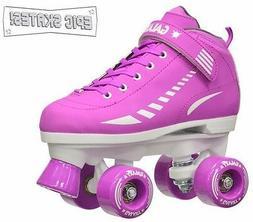 Galaxy Elite Purple Girls Indoor/Outdoor Quad Roller Speed S