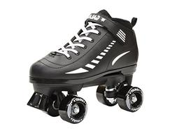 Epic Skates Galaxy Elite Kids Quad Speed Skates, Black, Adul