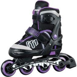 MONGOOSE Girls Adjustable Inline Skates Roller Blades Size 5