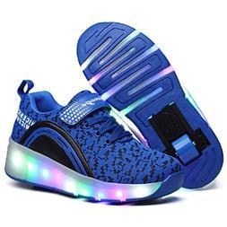 Nsasy Girls Boys Skate Roller Shoes )