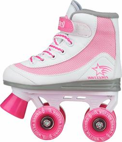 Roller Derby Girls Firestar Roller Skates Boots White Pink Y