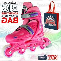 Crazy Skates | Girls Kids Ladies 4 Size Adjustable Inline Sk