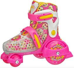 Girls Pink and White Fun EZ Roll Adjustable Beginner Skates