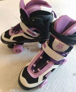 Mongoose Girls Purple Adjustable Size 5-8  Quad Roller Skate