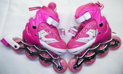 Girls Rollerblades Adjustable Inline Skate Roller Skates Pin