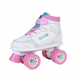 Girls Sidewalk Roller Skate - White Youth Quad Skates - Size