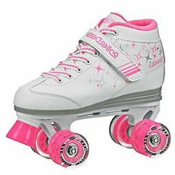 Roller Derby Girls Sparkle Lighted Wheel Roller Skate, White