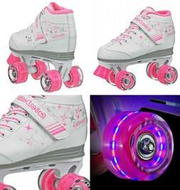 Roller Derby Girls Sparkle Lighted Wheel Skate Size 3, White